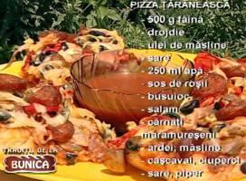 Pizza taraneasca (cu carnati maramureseni)