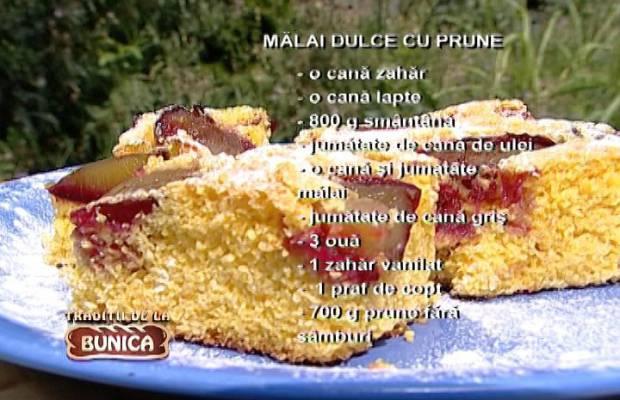 Reteta malai dulce cu prune