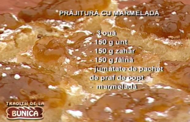 Prajitura umpluta cu marmelada