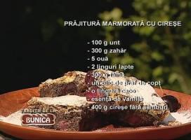 Prajitura marmorata cu cirese
