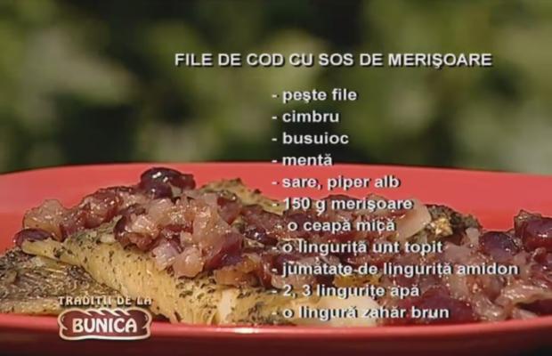File de cod cu sos de merisoare
