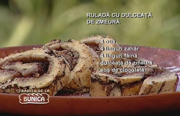 Rulada cu dulceata de zmeura