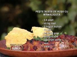 Peste cu sos de rosii