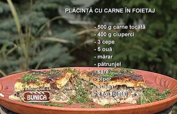 Placinta de Carne in Foietaj