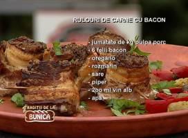 Rulouri din carne de porc si jambon
