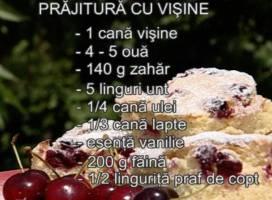 Prajitura cu cirese (capsuni, visine, caise)