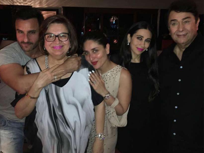 Karisma si Kareena Kapoor si parintii lor, Randhir Kapoor si Babita