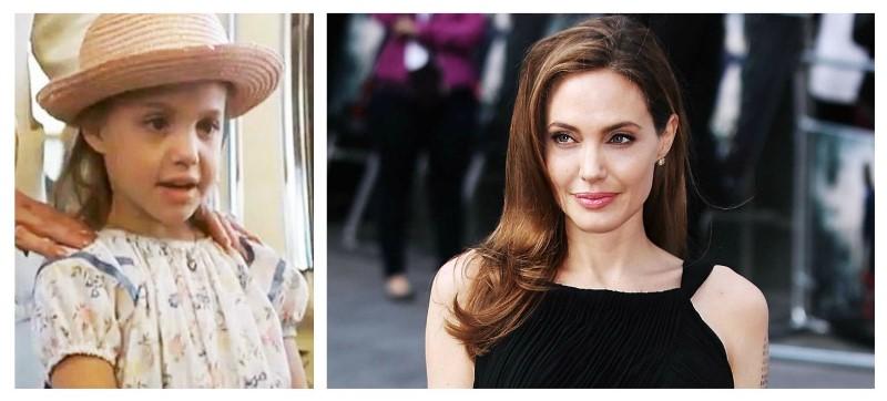 Angelina Jolie atunci acum