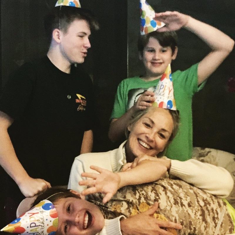 sharon stone familie