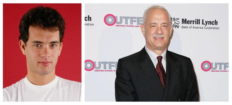 Tom Hanks atunci acum debut Hollywood